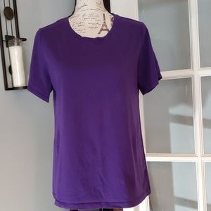Lord & Taylor Cotton/Spandex Tee 1X